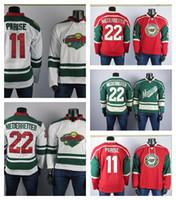 Minnesota Wild Jerseys'in En İyi Oyuncu 11 Zach Parise Jersey 22 Niederreerite Yüksek Kalite Işlemeli erkek Buz Hokey Formaları Dikişli