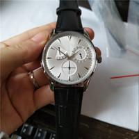 새로운 도착 남자 시계 시계 기계식 시계 자동 시계 남성 비즈니스 스타일 손목 시계 가죽 스트랩 J03