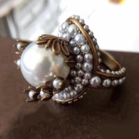 Hot Brand Fashion Jewelry For Women Vintage Brass Rings Big ...