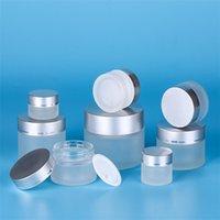 20g 30g 50g Kozmetik Boş Şişe Buzlu Temizle Cam Kavanoz Doldurulabilir Makyaj Kremi Konteyner Kozmetik Ambalaj Şişeleri