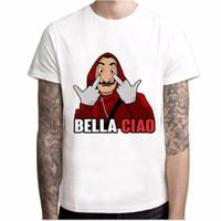 Männer Designer T-Shirt drucken La Casa De Papel T-Shirt Geldraub Tees TV-Serie T-Shirts Männer Kurzarm House of Paper T-Shirt