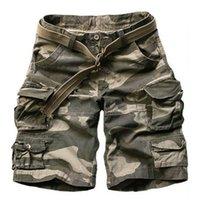 2019 Summer Shorts de camouflage vert armée hommes occasionnels genou longueur Camo pantalon Mens Cargo Short bermuda short hombre avec ceinture CX200624