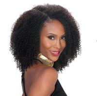 4A lockige brasilianische Remy Haar Lace Front Perücken 150% Dichte afro verworrene lockige 360 Lace Frontal Perücken mit Babyhaar vor gezupft