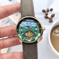 Nueva edición Movimiento automático Carti Men Watch Glass Back Green Dial Banda de nylon Reloj masculino Montre Homme