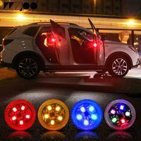 5 LEDs Universal-Warnleuchten für das Öffnen von Autotüren Drahtloser magnetischer Induktionsblitz mit blinkender Anti-Heck-Kollisions-Sicherheitsleuchte