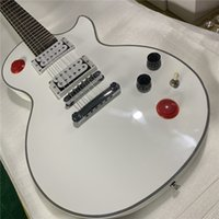 Free ShippingLP custom large head electric guitar white colo...