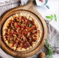Zebra Breadboard Pizza Platos Tablero Bandeja redonda Western Wax-Free Lacqueless Vegetal Hecho a mano Pantalla de madera maciza