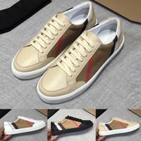 جديد رجل حذاء تحقق خمر القطن والجلد المدبوغ أحذية مصمم أحذية الفاخرة الرجال فحص نوع خيش حذاء رياضة مع مربع