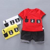 Сетка дизайнер мода дети мальчик девушка одежда спортивная одежда летние детские шорты 2 шт. Устанавливает детей наряд хлопок B17