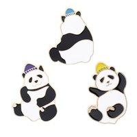 الأزياء المينا لطيف الباندا بروش الإبداعية kawaii الحيوان الكرتون دبوس معطف طوق حقيبة كاب شارة المجوهرات هدية للرجال النساء أطفال