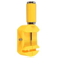 Herramientas de reparación de herramientas Enlace de reloj amarillo de 28 mm para banda Correa de hendidura Pulsera Cadena Perno removedor Ajustador Kit de herramientas de reparación + 3 piezas Pines de repuesto