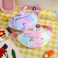 Kind Mini Chest Taschen Schönes Einhorn Design Plüsch Waist Tasche Schrégschulter Speicher-Beutel für Kinder-Tagesgeschenke 11SM E1