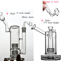 Mobious Glass Bong Matrix Perc 잔물 물 봉지 Chicha 물 담뱃대 물 파이프 18mm Banger Smoking Withy Oil rigs