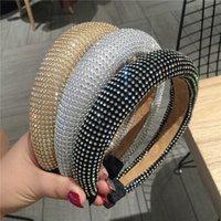 Diamond Gronge Дизайнерские повязки Широкие обручи для волос Утолщенные йоги повязка на голову для волос