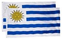Uruguay Flag 3x5FT 150x90cm Polyesterdruck Indoor Outdoor hängend Hot Selling-Staatsflagge mit Messingösen Kostenloser Versand