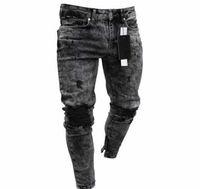 jeans skinny Primavera e Verão quente venda homens novos do floco de neve magros ocasionais do zipper das calças de brim calças dos homens