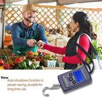 40 kg Balances numériques LCD Accrochage Crochet bagages pêche Balance électronique portable Aéroport balances de ménage 200pcs CCA11905