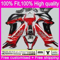 Injeção para a Kawasaki ZX 10 R ZX1000 ZX10R 11 12 13 14 15 67HM.10 da vermelho ZX 10R 1000cc ZX10R 2011 2012 2013 2014 2015 OEM carenagens