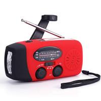 Portable emergenza Weather Radio manovella Auto AM Powered / FM / NOAA solare radio con 3 torcia LED 1000mAh Banca di potere del caricatore del telefono