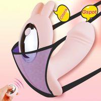 Wearable farfalla Dildo Vibratore Sex Toys per AdultVibrators per le donne Punto G per Clitoride Vibratore a distanza senza fili Y200616