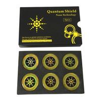 6 pcs quantum escudo adesivo etiqueta do telefone móvel para o telefone celular anti proteção contra a radiação de fusão fusão excel anti-radiação dhl