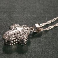 EXQUISITE 925 Sterling Sterling Silver Chain Collier De Diamant Bijoux Aimant Boîte Pendentif Devout Devout Anniversary Cadeau Cadeau Accessoires de mode