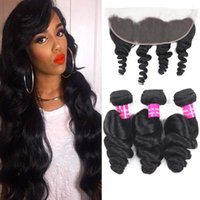 9A Remy Brazilian Hair Loose Wave With 13x4 Ear To Ear Lace ...