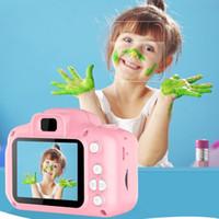 Дети камеры Дети Мини цифровая камера Симпатичный мультфильм Cam 13 Мпикс SLR камеры Игрушки для подарка дня рождения 2-дюймовый экран Cam Сфотографируйте DHL