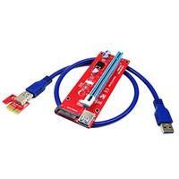 5pcs USB3.0 PCI-E PCI Express 1X à 16X Adaptateur de carte d'extension Exploration graphique dédiée Extension SATA Connecteur de connecteur d'alimentation 60CM Câble