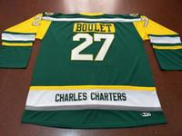 Пользовательские мужчины молодежь женщины Vintage CHARLES CHARTERS #27 Logan Boulet Humboldt Broncos хоккейная Майка размер S-5XL или обычай любое имя или номер