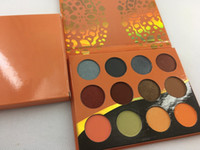 Yüksek kalite! Profesyonel makyaj 12 Renk Moda Kadınlar Sarı Göz Farı Paleti Makyaj Mat Göz Farı Paleti