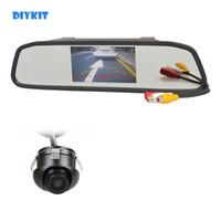 4.3inch DIYKIT Car Rear View Monitor LCD a specchio Car Monitor + 360 HD posteriore / vista frontale / laterale Camera Car Cam