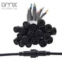10 paia Donna Uomo del filo Uomo Donna spina 2 pin 3Pin 4Pin 5Pin IP67 connettore LED impermeabile bianco del cavo nero