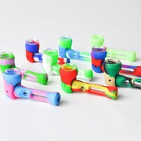 Silicone Smoking Pipe 4. 0inches Removable Tobacco Spoon Pipe...