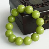 bracciali giada verde VERDE Fluorite Notte Pearl Bead braccialetto Night Glow luce Bracciale Pietra di Luna di pietra naturale per le donne gli uomini
