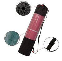 tragbare 200pcs verstellbare Nylon Yogatasche 183cm * 66cm Yoga-Matte Taschen Träger Mesh-Center Yoga Rucksack schwarze Farbe DHL Fedex-freies Verschiffen