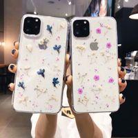 Para iPhone 11 Clear Case Flower Design macio TPU flexível ultra-fino à prova de choque Capa protetora floral capa para iPhone X XS Max XR 8 7plus