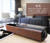 All'ingrosso 2 * 10W Big Power BT808 HIFI barra audio senza fili dell'altoparlante stereo Bluetooth supporto Subwoofer audio portatile MIC Aux nero