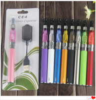 MOQ 5 PCS EGO CE4 Vape Vape Pen único Kits de Starter Eletrônico 650 900 1100 Mah Ugo Micro USB 510 Bateria Vaporizador Bollister Embalagem