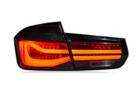 اكسسوارات السيارات الذيل مصباح ل BMW F30 F35 3 سلسلة أضواء الذيل 2013-2017 المصباح الخلفي DRL + بدوره إشارة + الفرامل + عكس الصمام الخلفية