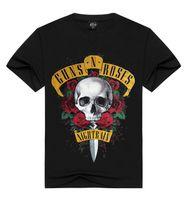 Hals-Kurzschluss-Hülsen-T-Shirts der Gewehr- und Rosen-Männer T-Shirt Mode 3D druckte T-Shirts für Sommer freies Verschiffen
