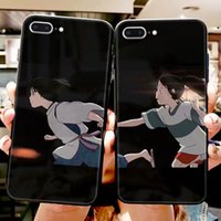 Any model couple mobile phone case tempered glass to chihiro...