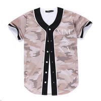 Moda Uomo 3D Baseball Camicia Sport Jersey di buona qualità con bottone vendita online 38