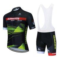 ضبط الدراجات جيرسي 2020 فريق برو SRAM CYCLING الملابس الصيفية MTB تنفس دراجة جيرسي مريلة السراويل عدة ملابس Ciclismo