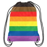 Rainbow Pride Homosexuell-Rucksack-Stolz Homosexuell LGBT-Tasche Sport-Geschenk Fertigen 35x45cm Polyester Digital Printing für Frauen Kinder Tra