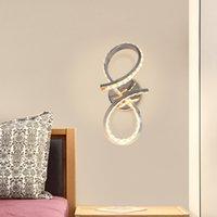 현대 크롬 마감 벽 램프 12W LED 알루미늄 및 K9 크리스탈 장식 침실 거실 복도에 대 한 Sconce 전등