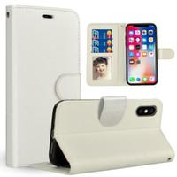 Para iPhone XS MAX XR X 8 7 Plus Retro Flip Stand Wallet Funda de cuero PhotoFrame Cubierta del teléfono para Samsung S9 S10 PLUS 300pcs con dhl gratis