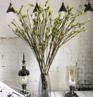 Mudas de espuma 95 centímetros longa Plastic ramo fácil de dobrar artificiais com folhas verdes para Flower Arrangement Início DIY Decoração