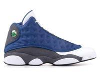 최고 품질 13 부싯돌 리얼 탄소 섬유 3M 반사 남자 농구 신발 13s 부싯돌 화이트 블루 스니커즈 상자