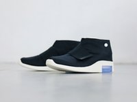 low priced 1a1fb f7d90 Calidad superior Fear of God 1 MID Mocasín zapatos para hombre FOG Botas  negras Zapatillas de